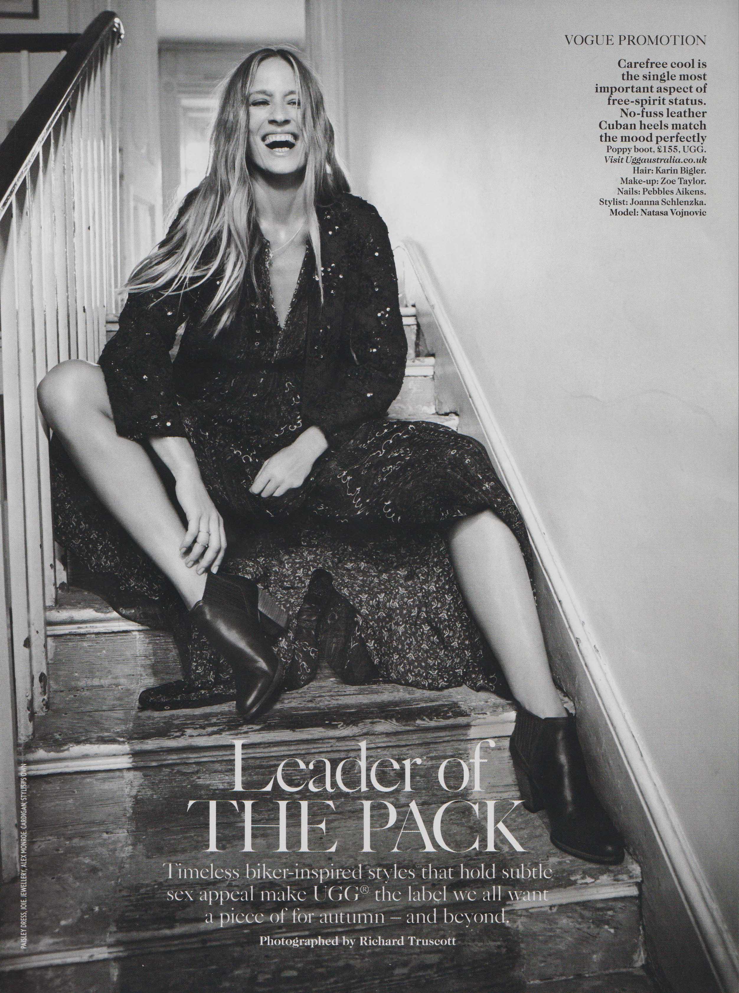 NATASA VOJNOVIC Vogue UK by Richard Truscott and Joanna Schlenzka